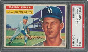 1956 Topps #88 Johnny Kucks - PSA MINT 9 - one Higher!
