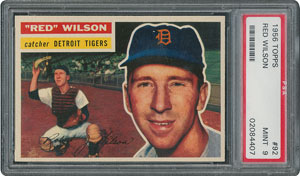 1956 Topps #92 Red Wilson - PSA MINT 9 - None Higher!