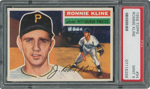 1956 Topps #94 Ronnie Kline - PSA MINT 9 - two Higher!