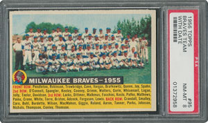 1956 Topps #95 Braves Team (Dated) - PSA NM-MT 8 - Three Higher!