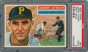 1956 Topps #97 Jerry Lynch - PSA MINT 9 - None Higher!
