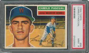 1956 Topps #98 Camilo Pascual - PSA MINT 9 - one Higher!