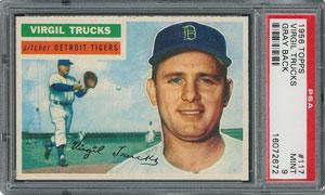 1956 Topps #117 Virgil Trucks - PSA MINT 9 - one Higher!