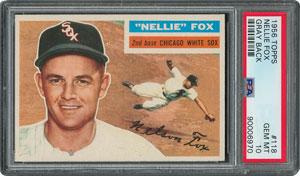1956 Topps #118 Nellie Fox - PSA GEM-MT 10 - Pop two, None Higher!