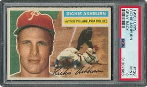 1956 Topps #120 Richie Ashburn - PSA MINT 9 - None Higher!