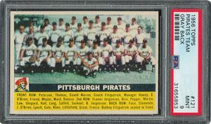 1956 Topps #121 Pirates Team - PSA MINT 9 - None Higher!