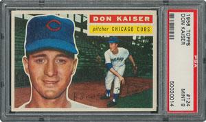 1956 Topps #124 Don Kaiser - PSA MINT 9 - one Higher!