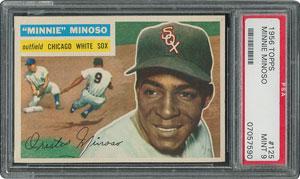 1956 Topps #125 Minnie Minoso - PSA MINT 9 - one Higher!