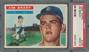 1956 Topps #126 Jim Brady - PSA MINT 9 - None Higher!