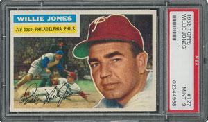 1956 Topps #127 Willie Jones - PSA MINT 9 - one Higher!