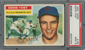 1956 Topps #128 Eddie Yost - PSA MINT 9 - one Higher!
