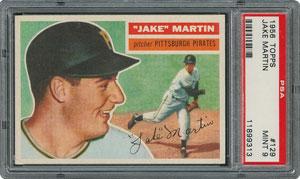 1956 Topps #129 Jake Martin - PSA MINT 9 - three Higher!