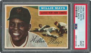 1956 Topps #130 Willie Mays - PSA MINT 9 - None Higher!