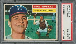1956 Topps #131 Bob Roselli - PSA NM-MT 8
