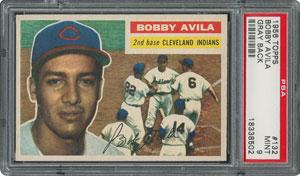 1956 Topps #132 Bobby Avila - PSA MINT 9 - None Higher!