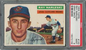 1956 Topps #133 Ray Narleski - PSA MINT 9 - None Higher!