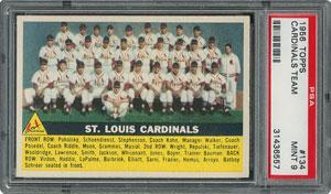 1956 Topps #134 Cardinals Team - PSA MINT 9 - one Higher!