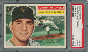 1956 Topps #138 Johnny Antonelli - PSA MINT 9 - one Higher!