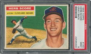 1956 Topps #140 Herb Score - PSA MINT 9 - None Higher!