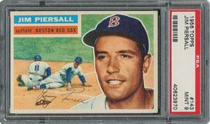 1956 Topps #143 Jim Piersall - PSA MINT 9 - None Higher!