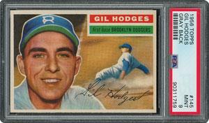 1956 Topps #145 Gil Hodges - PSA MINT 9 - one Higher!