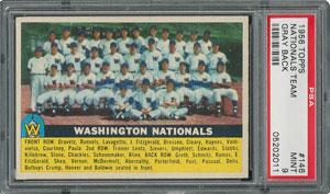 1956 Topps #146 Nationals Team - PSA MINT 9 - None Higher!