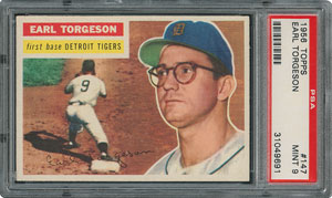1956 Topps #147 Earl Torgeson - PSA MINT 9 - one Higher!