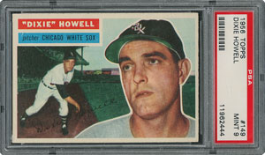 1956 Topps #149 Dixie Howell - PSA MINT 9 - one Higher!