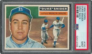 1956 Topps #150 Duke Snider - PSA MINT 9 - one Higher!