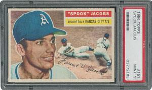 1956 Topps #151 Spook Jacobs - PSA MINT 9 - None Higher!