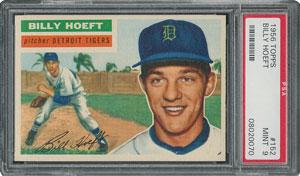 1956 Topps #152 Billy Hoeft - PSA MINT 9 - one Higher!