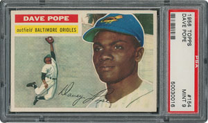 1956 Topps #154 Dave Pope - PSA MINT 9 - two Higher!