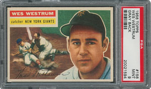 1956 Topps #156 Wes Westrum - PSA MINT 9 - one Higher!