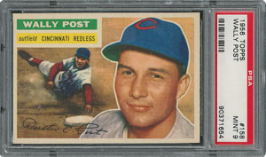 1956 Topps #158 Wally Post - PSA MINT 9 - None Higher!