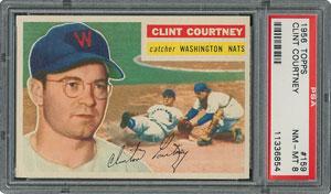 1956 Topps #159 Clint Courtney - PSA NM-MT 8