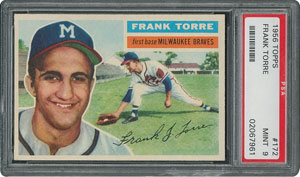 1956 Topps #172 Frank Torre - PSA MINT 9 - one Higher!