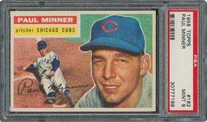 1956 Topps #182 Paul Minner - PSA MINT 9 - one Higher!