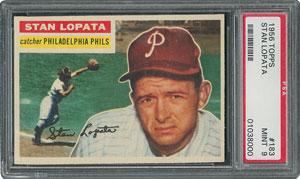 1956 Topps #183 Stan Lopata - PSA MINT 9 - None Higher!