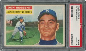 1956 Topps #184 Don Bessent - PSA MINT 9 - one Higher!