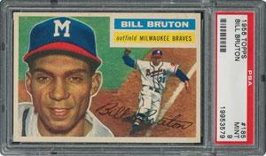 1956 Topps #185 Bill Bruton - PSA MINT 9 - None Higher!