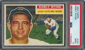 1956 Topps #187 Early Wynn - PSA MINT 9 - one Higher!