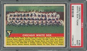 1956 Topps #188 White Sox Team - PSA MINT 9 - two Higher!