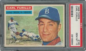 1956 Topps #190 Carl Furillo - PSA GEM-MT 10 - Pop one, None Higher!