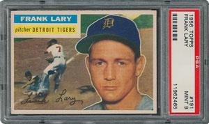 1956 Topps #191 Frank Lary - PSA MINT 9 - None Higher!