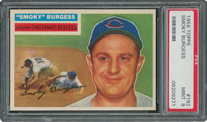 1956 Topps #192 Smoky Burgess - PSA MINT 9 - two Higher!