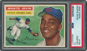 1956 Topps #194 Monte Irvin - PSA GEM-MT 10 - Pop two, None Higher!