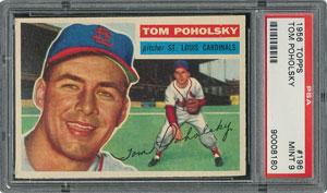 1956 Topps #196 Tom Poholsky - PSA MINT 9 - None Higher!
