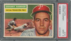 1956 Topps #197 Granny Hamner - PSA MINT 9 - one Higher!