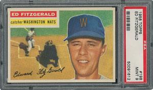 1956 Topps #198 Ed Fitzgerald - PSA MINT 9 - None Higher!
