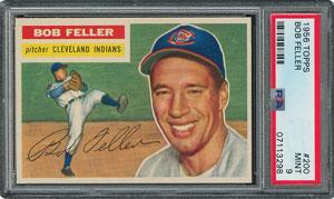 1956 Topps #200 Bob Feller - PSA MINT 9 - None Higher!